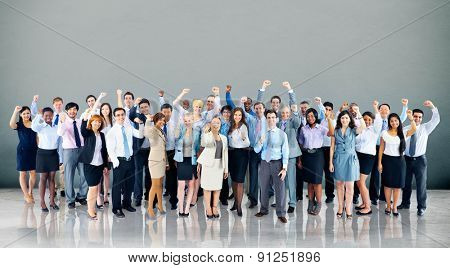 Business Cheerful Cooperation Happiness Team Concept