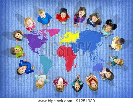 World Map Global International Globalisation Concept