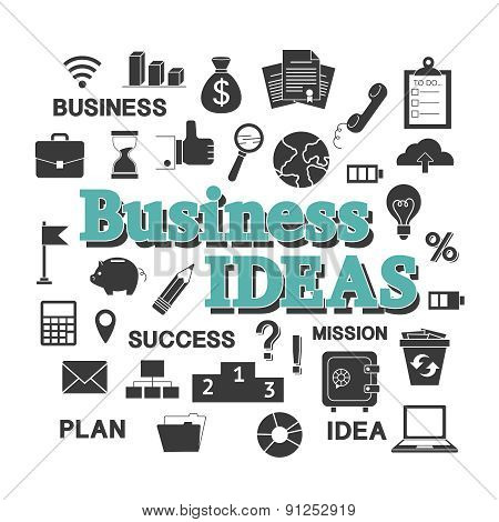 Set for business idea.