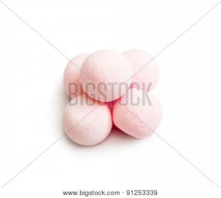 candies isolated on white background