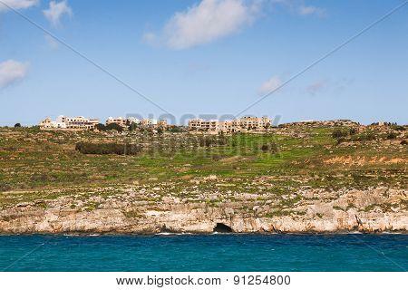 Coast Of Gozo Island, Malta.