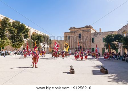 Valletta, Malta - February 21, 2010 - Knights Of The Order Of St. John During Reenactment.