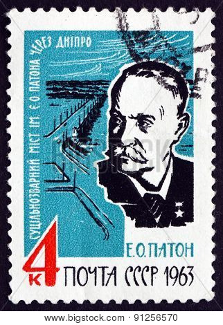 Postage Stamp Russia 1963 Eugene Oskarovich Paton, Engineer