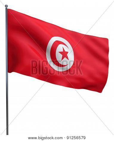 Tunisia Flag Waving
