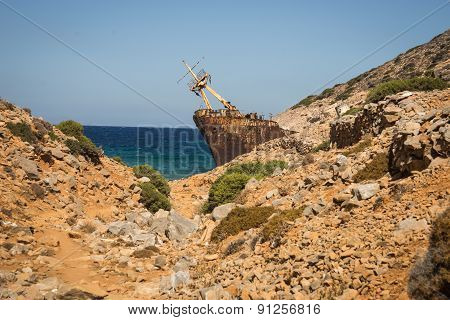 Shipwreck, Amorgos, Cyclades, Greece