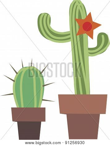 Vector Illustration Of Cactus