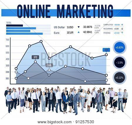 Online Marketing Planning Strategy Business Organization Concept