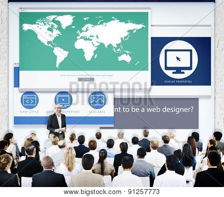 Business People Web Design Presentation Concept