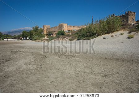 Castle At Frangokastello Beach, Crete, Greece