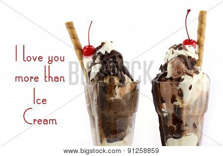 I Love You More Than Ice Cream Concept