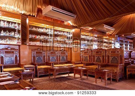 HURGADA, EGYPT - September 8, 2008. Perfume shop interior.