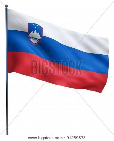Slovenia Flag Waving