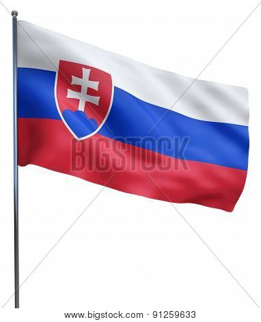 Slovakia Flag Waving