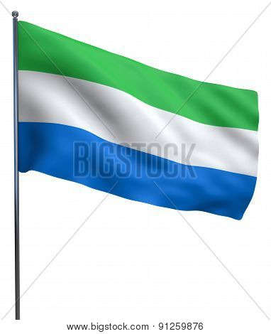 Sierra Leone Flag Waving