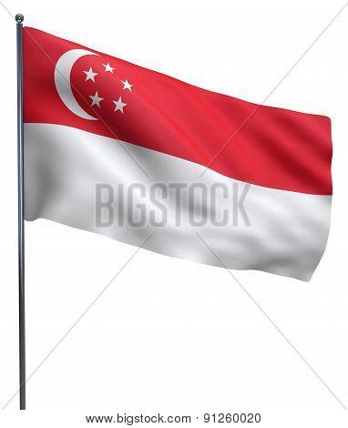 Singapore Flag Waving
