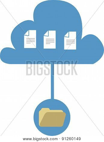 Vector Illustration Of Computer Files