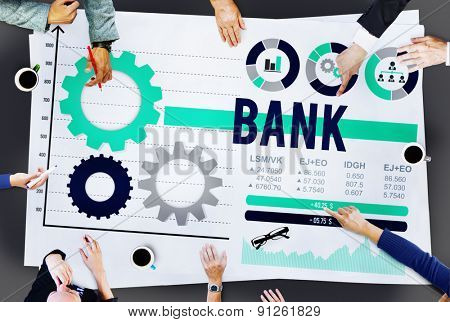 Bank Banking Money Saving Investment Financial Concept