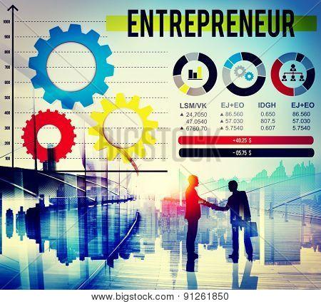 Entrepreneur Dealer Marketing Promotor Seller Concept