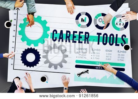 Career Tools Employ Hire JOb Occupation Concept