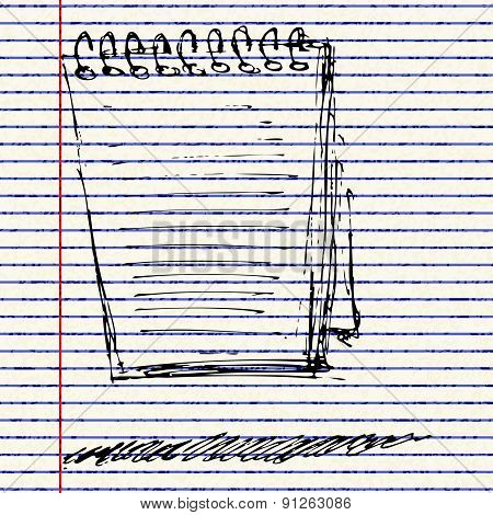 Sketch Of A Note Pad