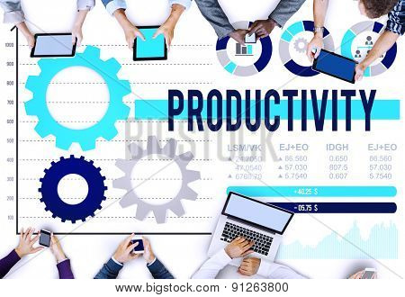 Productivity Production Efficiency Capacity Concept