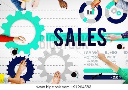 Sales Budget Finance Income Money Concept