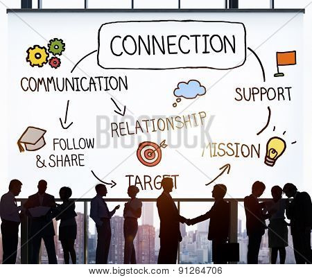 Connection Communication Networking Support Relationship Concept