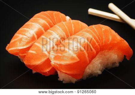 Sushi On Dark Background