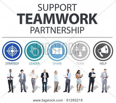 Support Teamwork Partnership Group Collaboration Concept