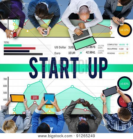 Startup Growth Success New Business Concept