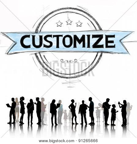 Customize Customer Improvement Process Service Concept