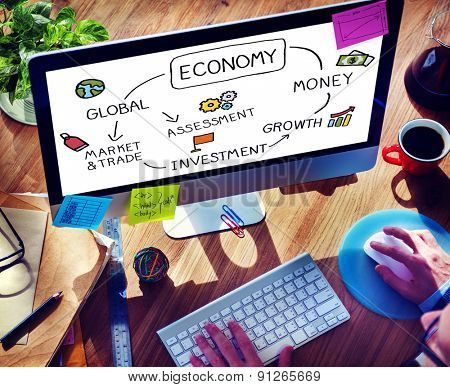 Economy Business Economic Business Marketing Concept
