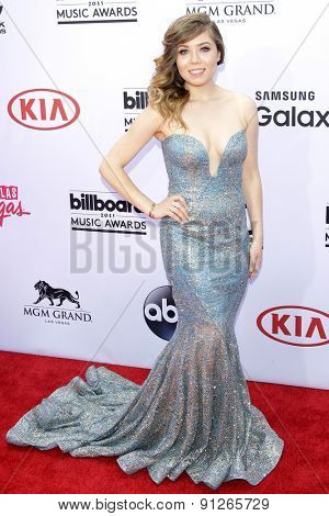 LAS VEGAS - MAY 17: Jennette McCurdy at the 2015 Billboard Music Awards at the MGM Grand Garden Arena on May 17, 2015 in Las Vegas, Nevada.