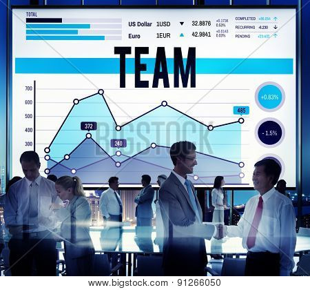 Team Corporate Teamwork Collaboration Assistance Concept
