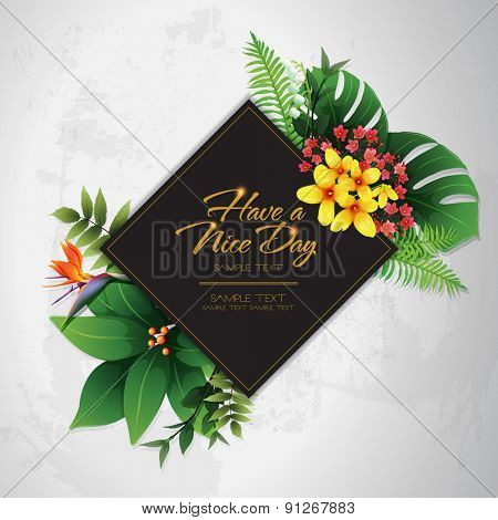 blossom tropical flower background 16