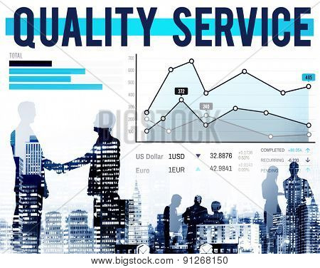 Quality Service Customer Satisfaction Guarantee Concept