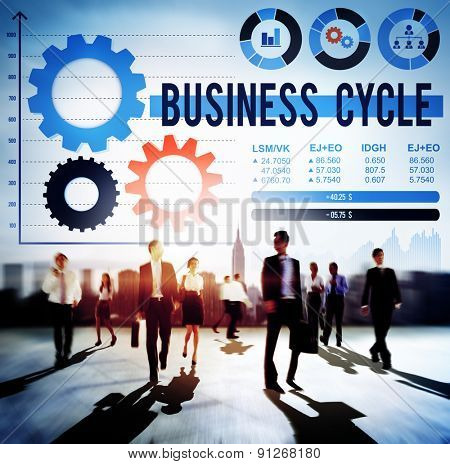 Business Cycle Data Analysis Growth Idea Concept