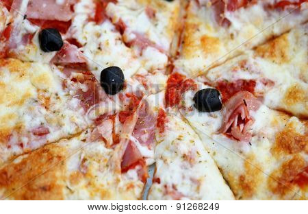 Tasty Pizza With Cheese And Olives