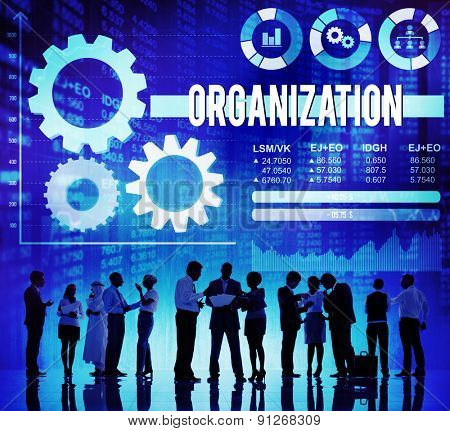 Organization Business Management Productivity Concept