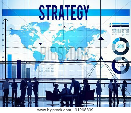 Strategy Business Development Process Solution Concept