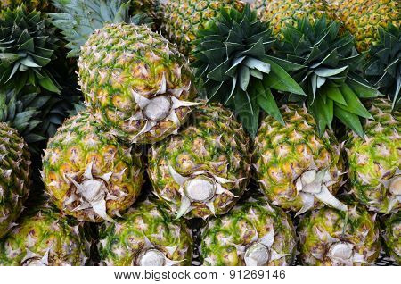 Pineapples at Market