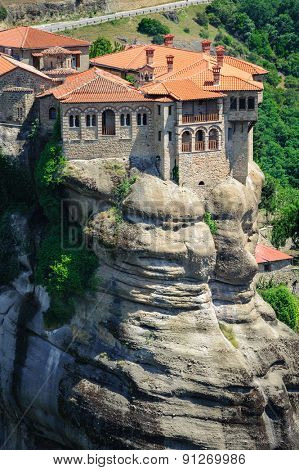 The holly monastery of Varlaam on the top of rock, Meteora, Greece