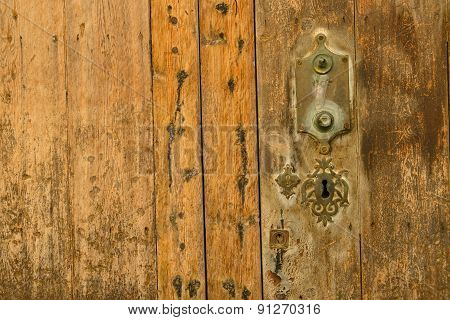 Old Door And Keyhole
