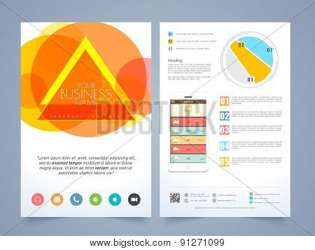 Creative two page infographic flyer, template or brochure design for your business.