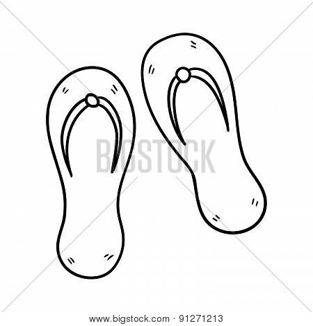 Sandals Hand Drawn Vector Illustration