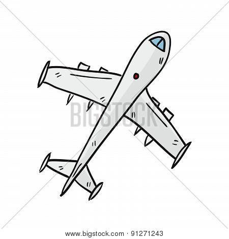 Airplane Hand Drawn Vector Illustration