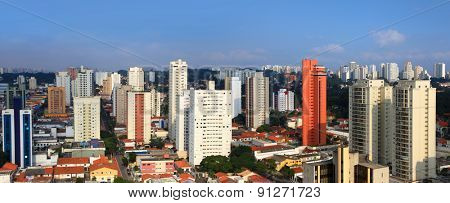 Panoramic view of Santo Amaro city in Sao Paulo, Brazil