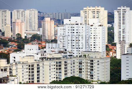 Many apartment homes in Sao Paulo, Brazil