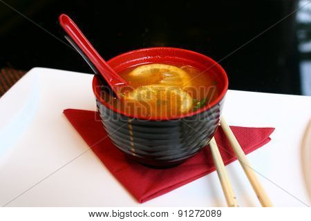 a bowl of asian soup miso