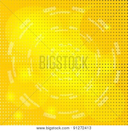 Yellow Background with Circle